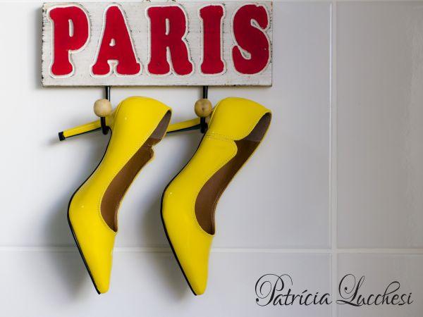 Scarpin Clássico Salto Alto|Amarelo