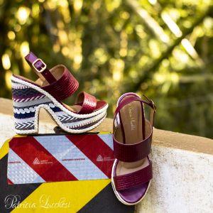Sandália Plataforma|Vinho